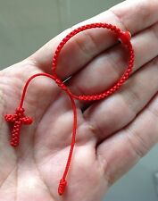 Baby Red String Bracelet, Red evil eye,good luck charm With Cross Woven End.