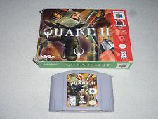 BOXED NINTENDO 64 N64 GAME CARTRIDGE QUAKE II W BOX