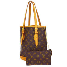 Authentic LOUIS VUITTON Bucket PM Shoulder Tote Bag Monogram M42238 Brown 33M964