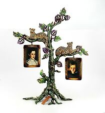 Jay Strongwater USA Jungle Leopards on Tree Frames Swarovski Crystals New in Box