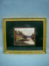 """Thomas Kinkade Framed Accent Print """"End of a Perfect Day"""" In Original Box"""