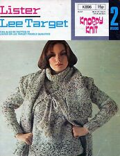 ~ 1970's Knitting Pattern For Boucle Sweater, Waistcoat/Gilet & Scarf ~