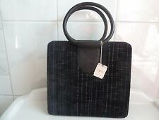 Vintage NEW Exclusive Saks Fifth Avenue MM Imported Leather Velvet Purse NWT