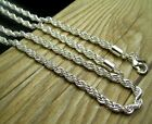 Hot! Free shipping Solid 925Silver 3mm thick twist rope chain necklace 24""
