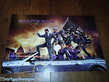 SAINTS ROW IV VIDEO GAME RARE DISPLAY PROMO POSTER