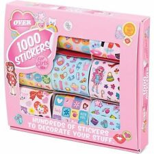 1000 GIRLS STICKERS STATIONERY SET CRAFT FUN GIFT CHRISTMAS STOCKING FILLER TOY