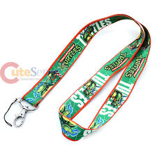 Teenage Mutant Ninja Turtles TMNT Lanyard Key Chain, ID Holder - Dual Prints