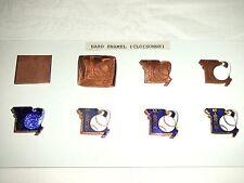 Vintage Sample Enamel Badges on Card ~ Stages of Production