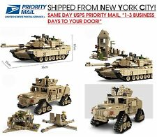 Full Custom Real Lego Compatible M1A2 Abrams MBT Tank & Hummer KAZI 1463 Pcs