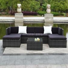7x Outdoor Patio Sofa Set Sectional Furniture Wicker Rattan Lawn Deck Couch H1D6