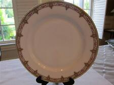 T&V Tressemanes Vogt Limoges France Dinner Plate M6892 Pink Flowers Green Scroll