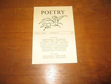 1969 Poetry Pinsky, David Jackson, Wright, Kuzma, 1st Appearances Issue Nice