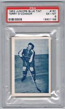 1952 Juniors Blue Tint Hockey Card Montreal #161 Terry O'Connor Graded PSA 6