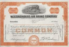WESTINGHOUSE AIR BRAKE COMPANY.....1950'S STOCK CERTIFICATES