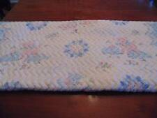 Vintage Baby Quilt, Lambs and flowers with clock faces, pink and blue