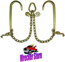 G70 V CHAIN, V BRIDLE, J T Hook for Tow Truck, Carrier, Hauler, Commercial Grade