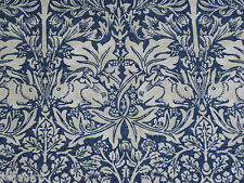 "WILLIAM MORRIS CURTAIN FABRIC ""Brer Rabbit"" 3.6 METRES INDIGO & VELLUM (360 CM)"