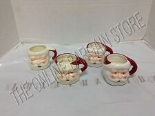 Pottery Barn Santa Claus Face Figural Coffee Hot Chocolate Kitchen Mugs Cups 4