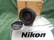 NIKON AFS 50mm F1.8 G superbe fast lens boxed