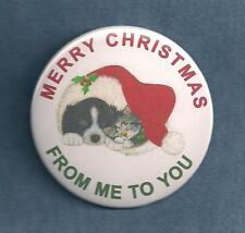 MERRY CHRISTMAS  FROM ME TO YOU service dog or therapy dog patch badge pin