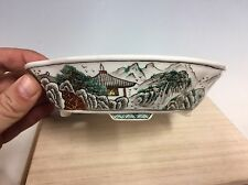 "Hand painted 5 Color Ito Gekkou Shohin Size Bonsai Tree Pot. 6 1/8"" Go-sai Mokko"