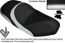 BLACK & WHITE CUSTOM FITS SYM JOYRIDE 125 200 EVO DUAL LEATHER SEAT COVER ONLY