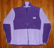 Womens THE NORTH FACE POLARTEC Fleece Lined Full Zip Purple Jacket L NICE