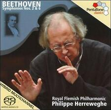Beethoven: Symphonies Nos. 2 & 6 [SACD], New Music