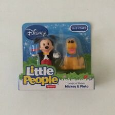 NIB Fisher-Price Little People Magic of Disney Mickey Mouse and Pluto