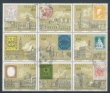 1985 ITALIA USATO BLOCCO DA FOGLIETTO ANTICHI STATI - K6