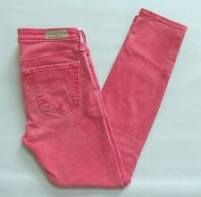 Adriano Goldschmied AG Jeans 26 The Stevie Ankle Slim Straight Pigment Red 28""
