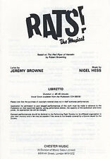 Nigel Hess Rats! The Musical Libretto Learn to Play Music Book 10 Multi Copies