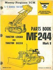 MASSEY FERGUSON MF244 MKII TRACTOR LOADER DOZER PARTS MANUAL - MF 244