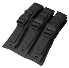 Condor MA37 Triple MP5/UZI Mag Pouch Black - Tactical Molle Magazine pouch