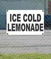 2x3 ICE COLD LEMONADE Black & White Banner Sign NEW Discount Size & Price