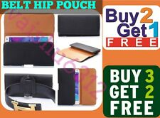 PU Leather Magnetic Flip Belt Hip Pouch Case Compatible for ★ Lava Iris Atom 2 ★