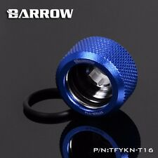 Barrow Water Cooling Compression Fitting For Rigid Acrylic Tubing OD 16mm Blue