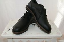 NWOB REEBOK BLACK LEATHERGOLF  SHOES SIZE 10 Mens700