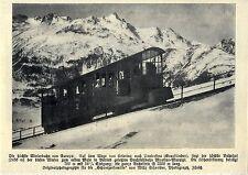Die höchste Winterbahn Europas (Celerina-Pontressina) Historische Aufnahme 1909