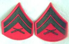 USMC Corps Marine Corporal rank stripes military pr pair set Patches NEW