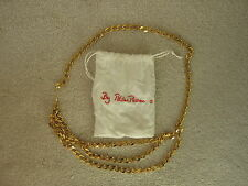 Vintage PALOMA PICASSO Chunky Gold Metal Chain Belt
