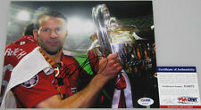 RYAN GIGGS Hand Signed Man Utd 8'x10' Photo + PSA DNA COA X10572