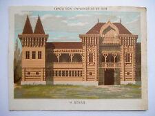 """Chromo """"Maison de la belle jardinière - Exposition universelle de 1878 - Russie"""""""