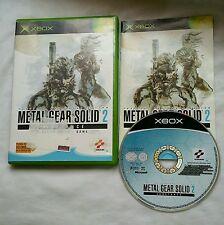 Jeu xbox 1ere generation METAL GEAR SOLID 2 complet notice pal
