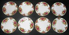 """Set of 8 Royal Albert Old Country Roses 6.25"""" Bread & Butter Plates Excellent"""
