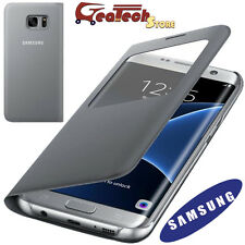 S View Cover Originale Per Samsung Galaxy S7 Edge G935F Custodia Finestra Silver