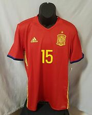Adidas Adizero SPAIN 2016 Ramos #15 Authentic Home Jersey (Sz L) Red/Yellow