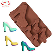 DIY Sexy High Heel Shoes Silicone Cake Decorating Mold Chocolate Fondant Mould