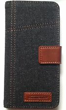 Commander Book Case ELITE JEANS sac portable Apple iPhone 6 plus 6s plus bleu