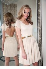 """""""Cyprus"""" Womens Party Evening Cocktail Short Dress Made in UK, size 8, 10, 12"""